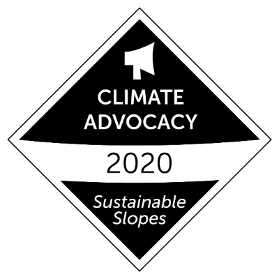 Mount Washington has received the digital badge for Sustainable Slopes - Climate Change Advocacy.