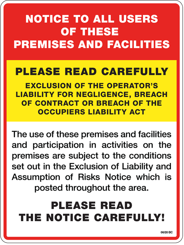 Exclusion of Liability